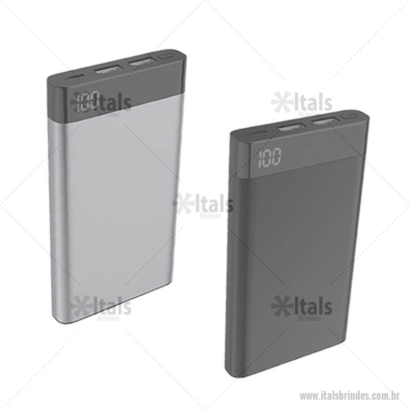 edb9750b7 Power Bank Metal Com Visor Digital 6000mah Personalizado - ITATEC235 ...